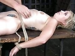 Hot sexy girl loves attention so she gets bound BDSM