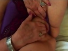 Fat granny Dominika takes cock in doggy style