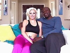 Interview with an interracial pornstar couple on set