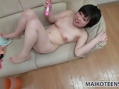 Fuck hungry Asian wifey Maasa loves having hot mish fuck with her man