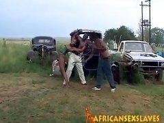 Obedient African amateur getting bounded and fucked hard