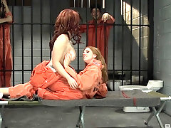 Prison lesbian pussy and ass fingering with Lexi Belle and Misty Dawn