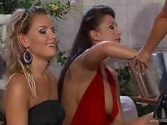 A few salacious lesbians lick and finger each other's vaginas