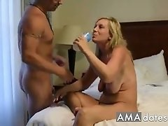Hot wife takes on her husband and friend and boy do they give her a hard fucking