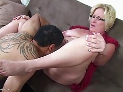 Stiff cock gets all wet fucking her pretty mature pussy