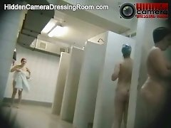 Sweet voyeur hidden camera video from the public shower room