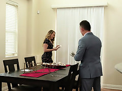 Hot MILF with nice big ass massage a perverted lawyer