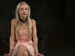 Huge BDSM fan Odette Delacroix is not shy to show her tits