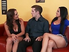 Katrina Jade and Kayla West enjoyin the same dick