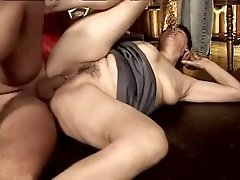 Buxom pale old whore Marge gets fucked really hard from behind