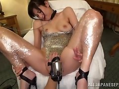 Bdsm fetish Japanese sex slave enjoys getting her pussy stroked with toys