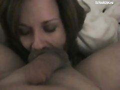 Hot blowjob in hotel room for best friend