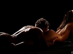 Wet Alexis Crystal finally gets a sensual penetration in the darkness