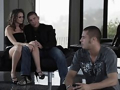 Lovely porn sweetheart Dani Jensen gets banged with a hot cumshot