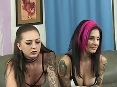 Attractive punk senoritas penetrated by the cock of the tattooed guy