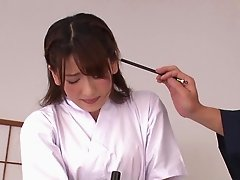 Cutie Yuri Sasahara reveals her panties and gets grabbed and fucked