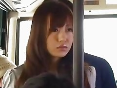 Nana Kunishi is doggy pumped in the bus