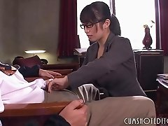 Submissive Office Japanese Teen Pleasing A Man
