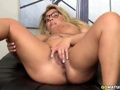 German big breasted housewife playing with herself