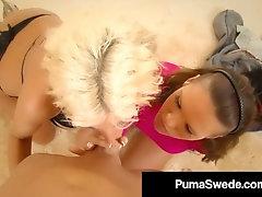 Huge-Chested Light-Haired Puma Swede %26 Jennifer Dark Get Sausage %26 Sizzling Jizm!