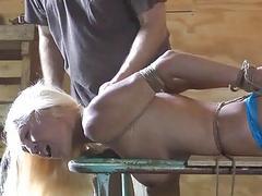 Maledom master ropes and molests hot blonde Amanda BDSM porn