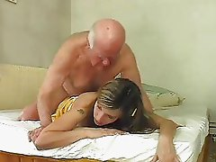 Hot blonde bunny shags with old mature hunk