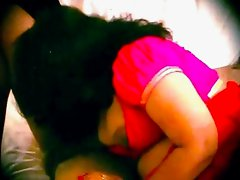 Indian plumb aunty in red saree very horny exposing all and fingering