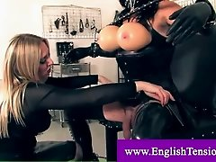 Mistress ties and cuffs trans slave