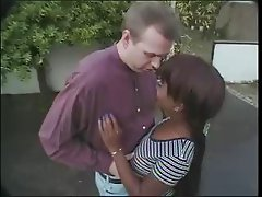 Kenya and white man blowjob outdoor